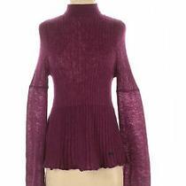 c'n'c Costume National Women Purple Turtleneck Sweater Xs Photo