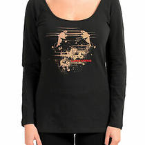 c'n'c Costume National Women's  Black Long Sleeve Crewneck Shirt Top Us Xs It 38 Photo