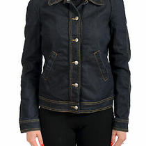 c'n'c Costume National Women's Dark Blue Denim Bomber Jacket Us S It 40 Photo