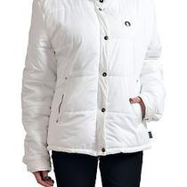 c'n'c Costume National Women's White Hooded Zip Up Parka Jacket Us 26 It 40 Photo