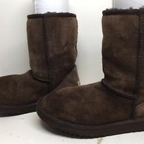 C Womens Ugg Australia Winter Suede Dark Brown Boots Size 6 Photo