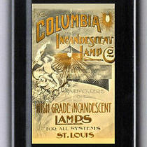 C1890 Columbia Incandescent Light Bulb Lamp Tampon Case Id Cash Condoms Coins Photo
