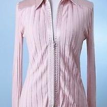 Cabi 159 Blush Pink Long Sleeve Double Zip Stretch Cardigan Jacket Size S Photo