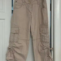 Cabi Cargo Crop Capri Pants Womens Sz 6 Blush Color 100% Cotton Casual Photo