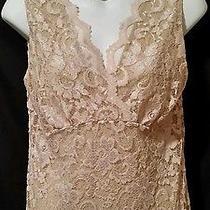 Cabi Lace Cami Tank Top Medium Blush Lace Overlay Nude Lining Style 601 Photo