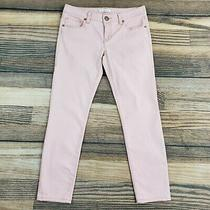 Cabi Women's 4 (Measure 31x28) Blush Pink Jeans 224 Nectar Skinny Ankle Photo