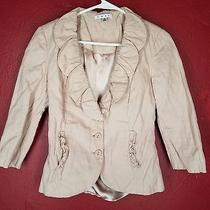 Cabi Womens Petal Jacket Blazer Blush Pink Ruffled Fitted Style 400 Size 2 Photo