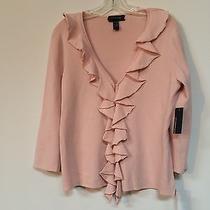 Cable & Gauge Pale Blush Cardigan Size L Photo