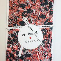 Cacharel & Antipast Designer Floral Nylon Tights Black Grey Pinks (Rrp 110) Photo