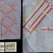 Cacharel Bag Scarf Silk Crepe Open Plaid 21 Square Photo
