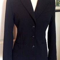 Cacharel Black Soft Stretch Blazer Jacket Luxury Size 12 Us Photo