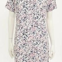 Cacharel Blue Pink & Tan Floral Print Short Sleeve Tunic Dress Size Us 10 New Photo