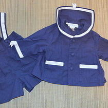 Cacharel France Baby Boy Nautical Outfit 6m Navy Blue Photo