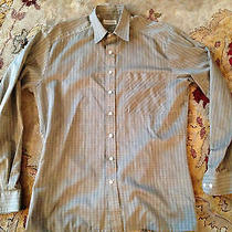 Cacharel Gray and Brown Striped Dress Shirt Size 37 Rare Nice Detail. Photo