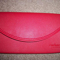 Cacharel Red Faux Leather Clutch / Wrist New Photo