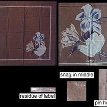 Cacharel Scarf Silk Plisse Botanical Crocuses 29 Sq Photo