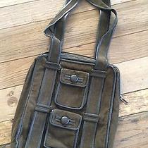 Cacharel Trendy Corduroy Brown Shoulder Bag Photo