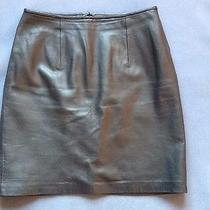 Cache Lamb Leather Skirt 8 Photo