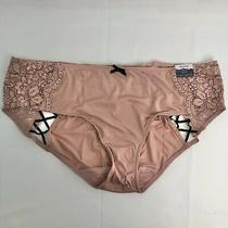 Cacique Hipster Blush 18/20 Panty Lacy Black Details Bow Women Nwt Photo
