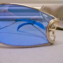 Calandre Dior Sunglasses / in Case Christian Dior Blue Mens / Womens Glasses Photo
