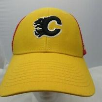 Calgary Flames Nhl Hockey Baseball Cap Hat Adjustable Snapback Reebok Photo