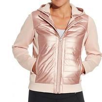 Calia by Carrie Underwood Moto Hybrid Jacket Hooded Blush Pink Size M Medium Nwt Photo