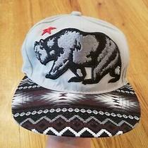 California Replublic Snapback Cap Hat Carbon Elements Gray Maroon Bear Aztec Photo
