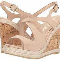 Callisto Women's Brielle Wedge Sandal Blush Suede Size 11.0 Photo