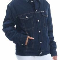 Calvin Klein 248 Womens New 1708 Navy Denim Tucker Jacket Xs Bb Photo