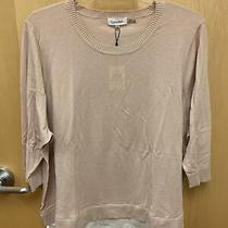 Calvin Klein 3/4 Sleeve Sweater Blush New Originally 89.50 Photo