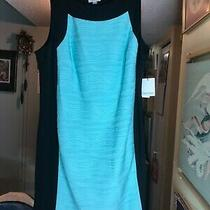 Calvin Klein Beautiful Black and Teal Evening Dress Brand New With Tags Size 22w Photo
