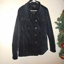 Calvin Klein Black  Velvet Jacket Blazer Size  Large Photo