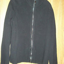 Calvin Klein Black Zipper Sweater Medium Free Shipping Photo