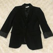 Calvin Klein Blazer/jacket Size 4/small Black Photo