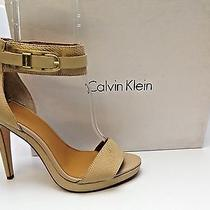 Calvin Klein Blush Nude/cocoon 'Vable' Platforms & Wedges Heels Sz 9.5 M  D2744 Photo