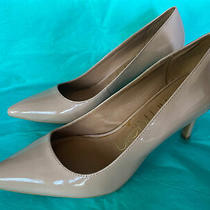 Calvin Klein Blush-Nude-Pale Patent Leather 3 Inch Heels Pumps Size 9 Photo