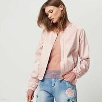Calvin Klein Blush Satin Pink Bomber Satin Jacket 179  Photo