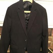 Calvin Klein Boys Suit Blazer Jacket Size 8 Black Worn Once Wedding Easter Photo