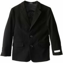 Calvin Klein Deep Black Boy's Size 14 Solid Stretch Two-Button Blazer 99- 147 Photo
