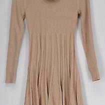 Calvin Klein Dress M Ribbed Knit Cowl Neck W/ Shimmer Detail Blush Pink New Photo