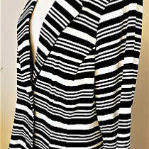 Calvin Klein Jacket Sz-16 Black/white Stripe Pattern Photo