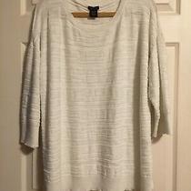 Calvin Klein Jeans Brand Tunic Sweater Xxl Ivory Cream Photo