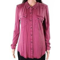 Calvin Klein Jeans New Red Women's Size Large L Button Down Shirt 59 502 Photo