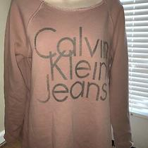 Calvin Klein Jeans Size Medium Blush Mauve Oversized Sweater Shirt Top Tb3m8 Photo