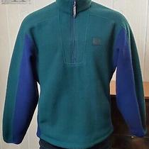 Calvin Klein Jeans Teal 1/2 Zip Fleece Pullover Activewear Outdoor Jacket Sz S Photo