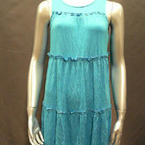 Calvin Klein Ladies Size 4 Tiered Summer Dress Calypso Rtl 138 Nwt Photo