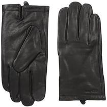 Calvin Klein Men's Basic Cuff Point Leather Glove With Touchscreen Technology B Photo