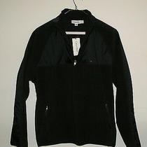Calvin Klein Men's Dark Brown/black 1/2 Zip Fleece Jacket Pullover L Large New Photo