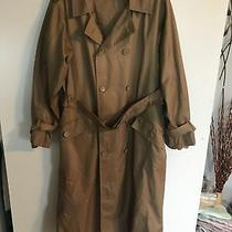 Calvin Klein Mens Size 44 Beige Button Up Trench Coat Photo