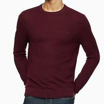 Calvin Klein Mens Burgundy Crew Neck Sweater Size Xl Photo